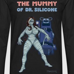 The Mummy of Dr. Silicone. classic fake movies.  - Men's Premium Longsleeve Shirt