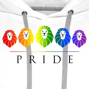 Gay Pride of Lions - LGBT Rainbow Caps & Hats - Men's Premium Hoodie