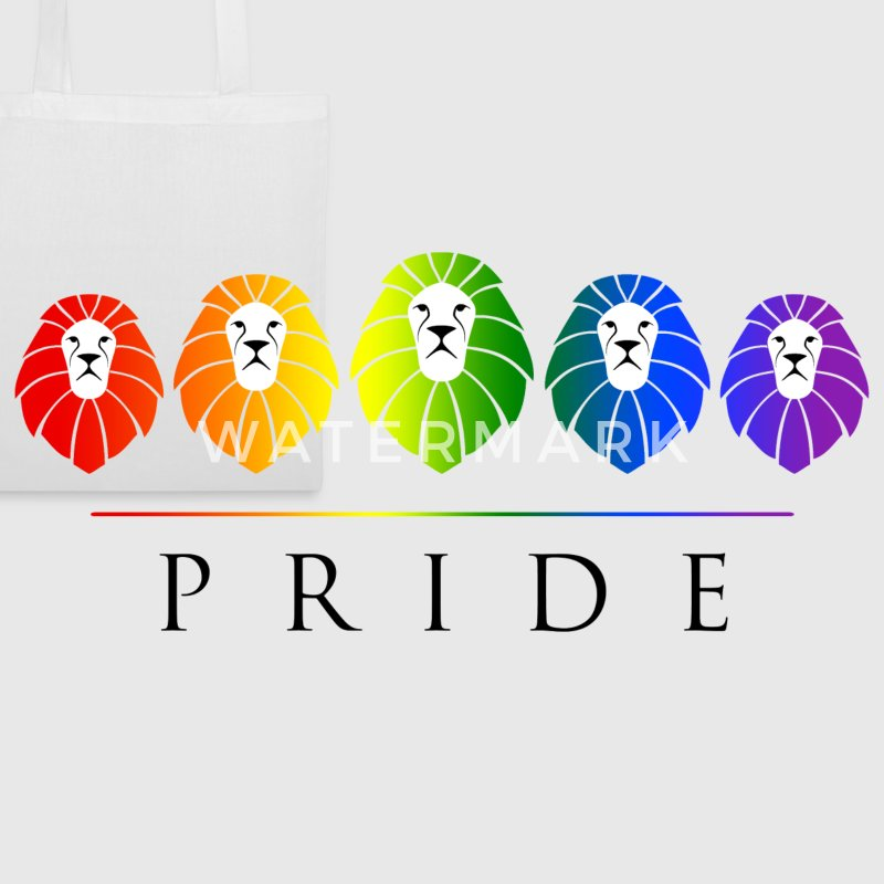 Gay Pride of Lions - LGBT Rainbow Bags & Backpacks - Tote Bag