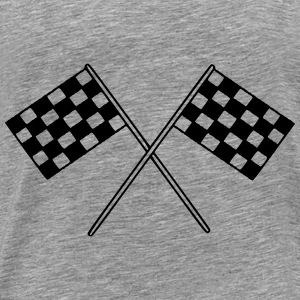 Flag Race Car Destination Motorcycle Hoodies & Sweatshirts - Men's Premium T-Shirt