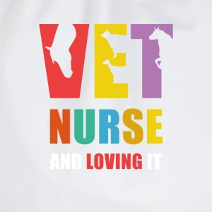 Vet Nurse and Loving it Veterinary T Shirt Tops - Drawstring Bag