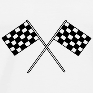 Flag Race Car Destination Motorcycle Mugs & Drinkware - Men's Premium T-Shirt