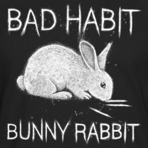 Bad Habit Bunny Rabbit T-Shirts - Men's Premium Longsleeve Shirt