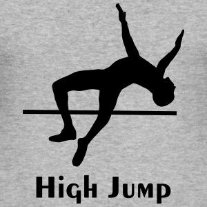 høydehopp - high jump - Slim Fit T-skjorte for menn