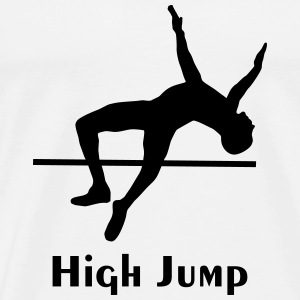 high jump - men - Men's Premium T-Shirt