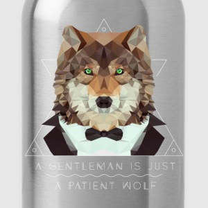 Low Poly Wolf Gentleman T-Shirts - Trinkflasche