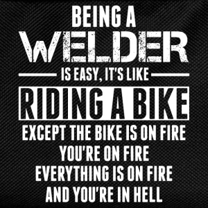 Being a Welder is like Riding a Bike T-Shirts - Kids' Backpack