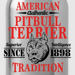Authentic American Pit Bull Terrier Tradition T-Shirts - Water Bottle