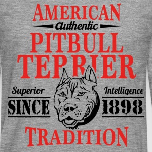 Authentic American Pit Bull Terrier Tradition T-Shirts - Men's Premium Longsleeve Shirt