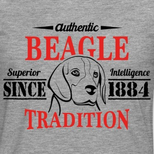 Authentic Beagle Tradition T-Shirts - Men's Premium Longsleeve Shirt