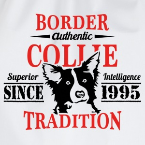 Authentic Border Collie Tradition T-Shirts - Drawstring Bag