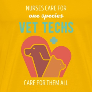 Vet Techs care for them all Veterinary T-shirt Mugs & Drinkware - Men's Premium T-Shirt