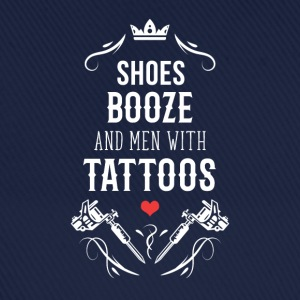 Shoes booze and men with tattoos T-Shirt T-Shirts - Baseball Cap