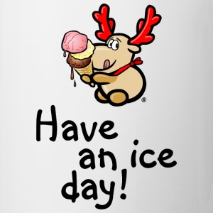 Elch Elmondo isst Eis – HAVE AN ICE DAY! Pullover & Hoodies - Tasse