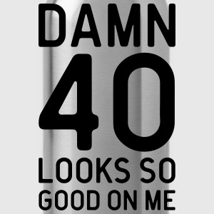 40 Looks Good Birthday Quote  Aprons - Water Bottle