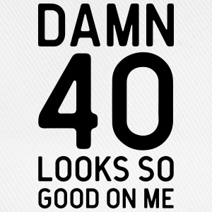 40 Looks Good Birthday Quote  Aprons - Baseball Cap