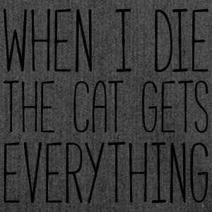 Cat Gets Everything Funny Quote T-shirts - Schoudertas van gerecycled materiaal