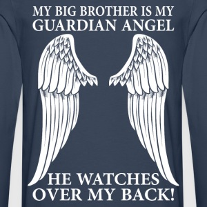My Big Brother Is My Guardian Angel T-Shirts - Men's Premium Longsleeve Shirt