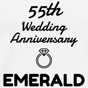 55 Emerald - Birthday Wedding - Marriage - Love Tassen & Zubehör - Männer Premium T-Shirt