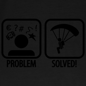 problem solved skydiving Bags & Backpacks - Men's Premium T-Shirt