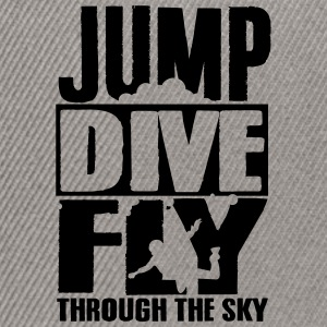 skydiving: jump dive fly through the sky T-Shirts - Snapback Cap