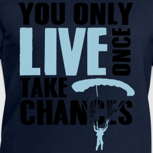you only live once take chances - skydiving Magliette - Felpa da uomo di Stanley & Stella