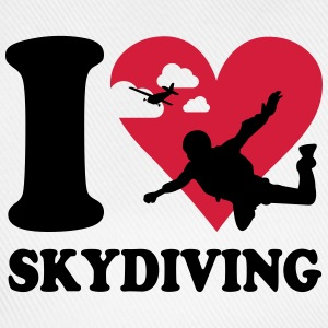 I love skydiving T-Shirts - Baseballkappe