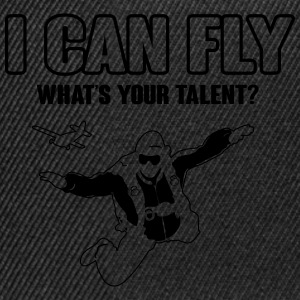 skydiving: I can fly - what's your talent?  Koszulki - Czapka typu snapback