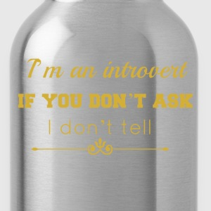 don't tell gold.png Hoodies & Sweatshirts - Water Bottle