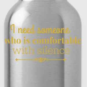 silence gold.png Hoodies & Sweatshirts - Water Bottle