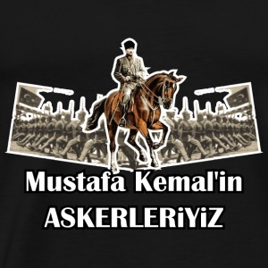 Mustafa Kemal´in Askerleriyiz Long Sleeve Shirts - Men's Premium T-Shirt
