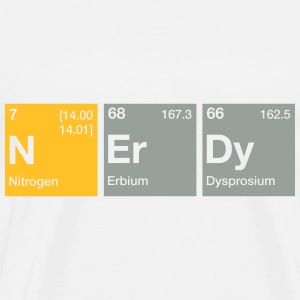 Nerdy Periodic Table Word Hoodies & Sweatshirts - Men's Premium T-Shirt