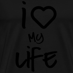 i love my life 2 Sweat-shirts - T-shirt Premium Homme