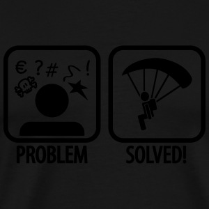 problem solved skydiving Sportkleding - Mannen Premium T-shirt