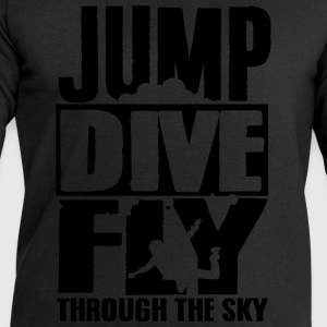 skydiving: jump dive fly through the sky Koszulki - Bluza męska Stanley & Stella
