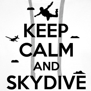 keep calm and skydive Koszulki - Bluza męska Premium z kapturem