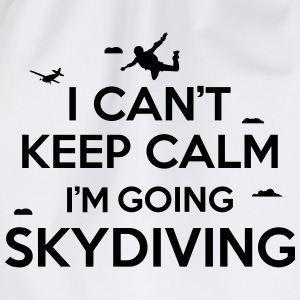 I can't keep calm I'm going skydiving Magliette - Sacca sportiva