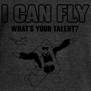skydiving: I can fly - what's your talent?  Magliette - Felpa con scollo a barca da donna, marca Bella