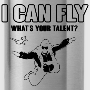 skydiving: I can fly - what's your talent?  T-Shirts - Trinkflasche