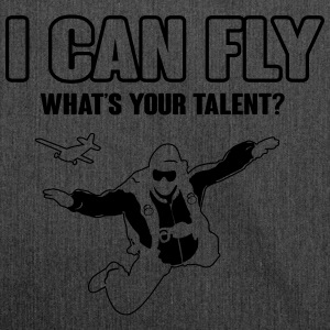 skydiving: I can fly - what's your talent?  Magliette - Borsa in materiale riciclato