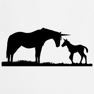 Unicorns - Unicorn mother and baby T-shirts - Forklæde