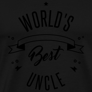 WORLD'S BEST UNCLE Shirts met lange mouwen - Mannen Premium T-shirt