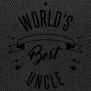 WORLD'S BEST UNCLE Shirts met lange mouwen - Snapback cap