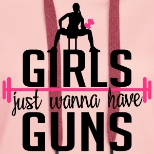 girls just wanna have guns T-Shirts - Women's Premium Hoodie