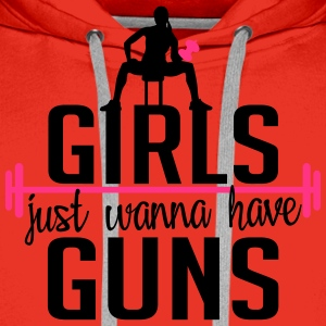 girls just wanna have guns T-Shirts - Men's Premium Hoodie