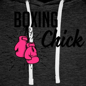 boxing chick T-Shirts - Men's Premium Hoodie