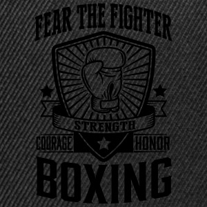 boxing - fear the fighter Camisetas - Gorra Snapback