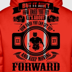boxing keep movin forward T-Shirts - Men's Premium Hoodie