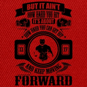 boxing keep movin forward T-Shirts - Snapback Cap