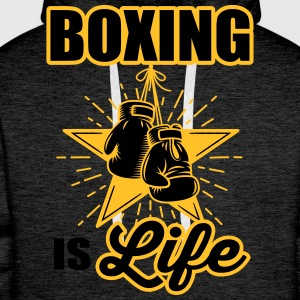boxing is life T-Shirts - Men's Premium Hoodie